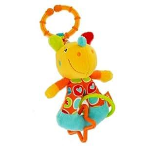 Mon Premier Jouet Babysun : Hochet Vibrant : Rhinocéros Orange