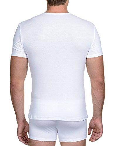 bruno banani Herren Unterhemd Shirt Perfect Line Weiß (Weiß 1)