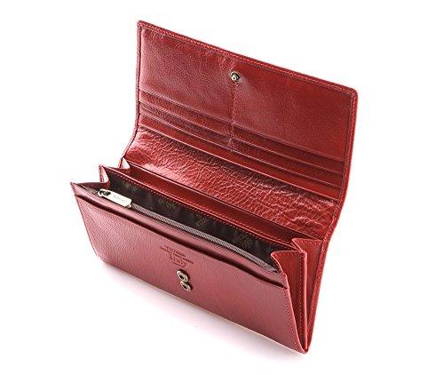 WITTCHEN Portafoglio, Dimensione: 19x9cm, Marrone, Materiale: Pelle di grano, Orizzontale, Collezione: Italy - 21-1-333-4 Rosso