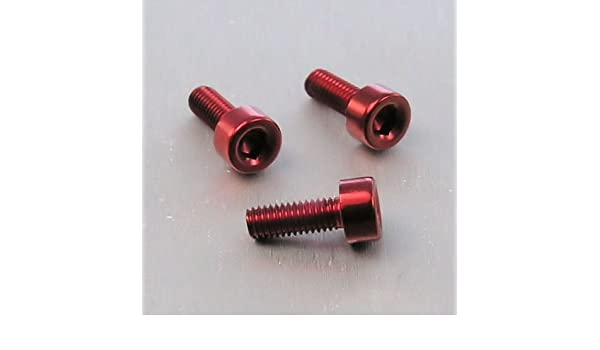 0.5mm x 8mm Schwarz Alu Inbus Schraube M3 x