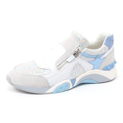 B3826 sneaker donna ASH HOP scarpa grigio/azzurro glitter shoe woman [37]