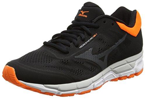 Mizuno Synchro Mx 2, Zapatillas de Running para Hombre, Negro (Black/Dark Shadow/Clownfish), 43 EU