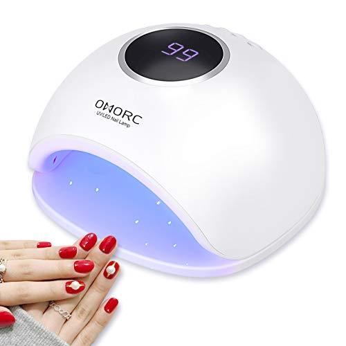 UV/LED Nageltrockner, OMORC 48W Nagellampe, professionelle Nagellack Lampe, 4 Timer-Einstellungen,...