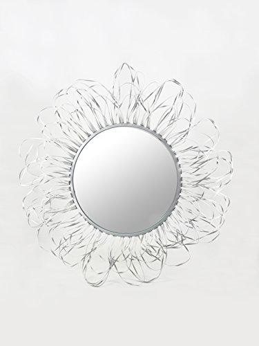 Moycor Espejo Alambre, Metal, Blanco, 96x7x96 cm