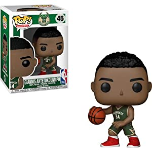 Funko Pop Giannis Antetokounmpo Milwaukee Bucks camiseta verde (NBA 45) Funko Pop NBA