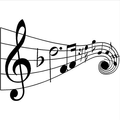 WENYAO Wandaufkleber für Wohnzimmer Vinyl Music Note Wandtattoo Schriftzug Wort Referenz Wandaufkleber Hinweis Wandmalerei Familie Music Club Dekoration Ay1623 57X39 cm (Hinweis Club)