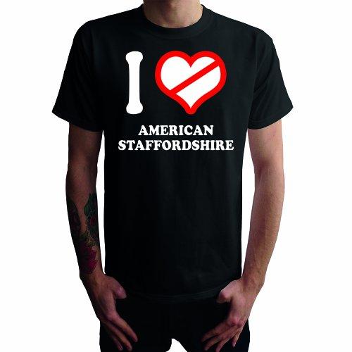 I don't love American Staffordshire Herren T-Shirt Schwarz