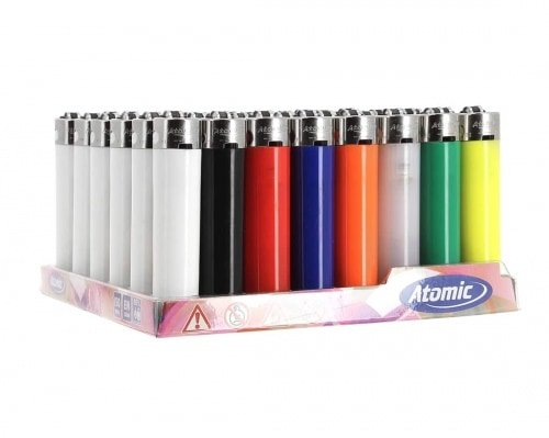 Atomic 48 Einweg-Feuerzeuge rund Farbe