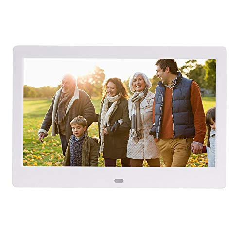 HUIGE 10.1 Zoll Smart WiFi Digital Photo Frame mit Touch Screen, IPS LCD-Panel, in 8GB Speicher, Wandmontagtisch, Portrait Landscape, Instant Sharing Moments,White (Photo Frame Wifi Cloud-digital)