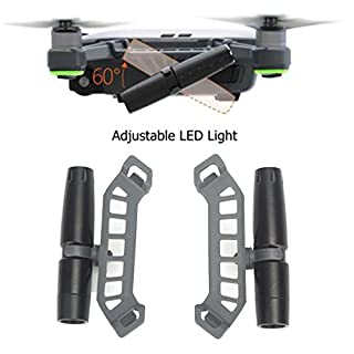 AFUT Adjustable Night Flight LED Light Lamp Accessories For DJI Spark RC Drone