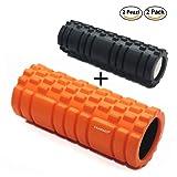 Rullo Ortopedico Foam Roller   Set 2 Rulli e Ciambellina   Rolling Per Massaggi   Riabilitazione & Scioglimento   Rullo Massaggio Muscolare   Arancione Rosa Blu   con Rullo Piccolo Nero e Ciambella