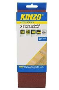 Kinzo 71746 Bande abrasive pour bois 3 pièces