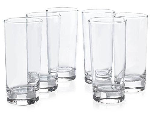 Lot de 6 verres à bière/vin classiques de qualité supérieure en verre (473 ml)