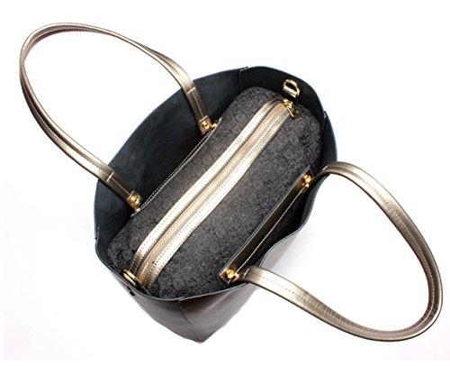 Keshi Leder neuer Stil Damen Handtaschen, Hobo-Bags, Schultertaschen, Beutel, Beuteltaschen, Trend-Bags, Velours, Veloursleder, Wildleder, Tasche Mehrfarbig 3