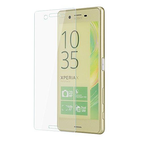 PhoneStar [REAL GLASS] Protector de Pantalla | Screen Protector de cristal genuino | Vidrio templado Ultra Slim | Grado de dureza 9H | Para el Sony Xperia X Performance