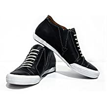 2992ef12 Modello Trapani - Cuero Italiano Hecho A Mano Hombre Piel Azul Marino  Zapatos Casuales Sneakers -