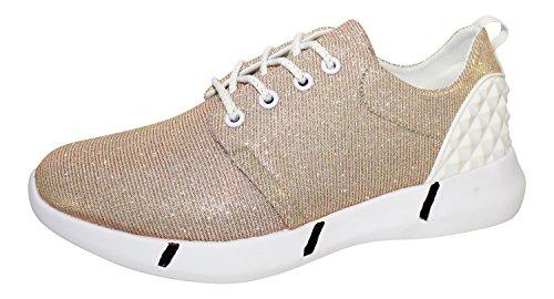WS, Sneaker donna, Oro (Gold - gold), 37 EU