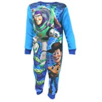 TDP Textiles Toy Story Buzz & Woody Boys Fleece Feel One Piece Sleepsuit, Blue, 18 - 24 Months