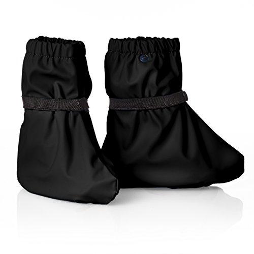 smileBaby Regenüberschuh Regenfüßling Regenschuh für Kinder und Babys wasserdicht in Schwarz M