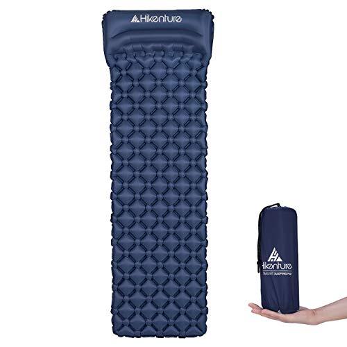 Hikenture Camping Isomatte Kleines Packmaß Aufblasbare Isomatte Ultraleicht - Sleeping Pad für Camping, Reise, Outdoor, Wandern, Strand (Dunkelblau 2)