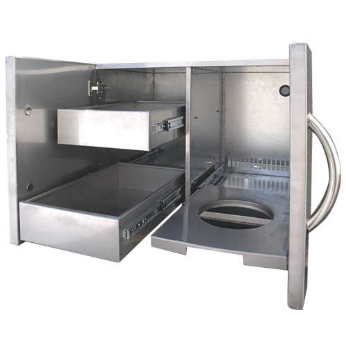 Cal Flame BBQ11840P-30-Z Kombi für Außentüren und Schubladen, Edelstahl, 76,2 cm