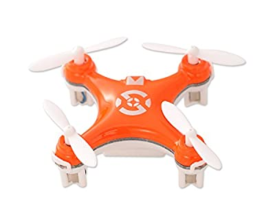 "Cheerson CX-10 1.6"" Mini Toy 2.4G 4CH 6 Axis Gyro 3D Flip LED RC Quadcopter Ready to Fly RTF Drone - Orange (29mm Diameter Propeller) Best Gift for Valentine Birthday Christmas Thanksgiving"