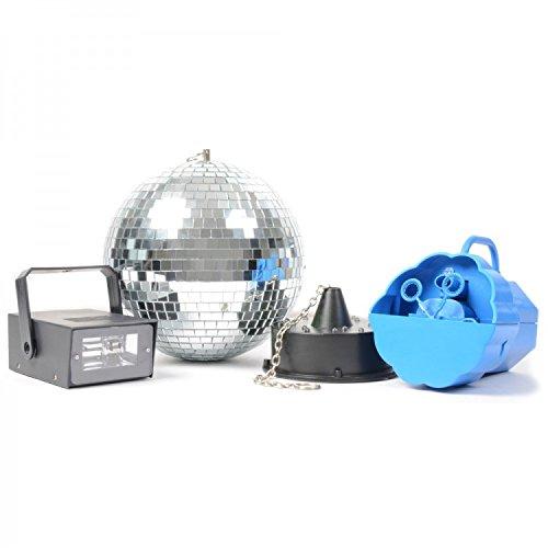 'beamZ Disco Set IV Black, Blue, Mirror–stroboscopes & Disco Lights (Black, Blue, Mirror, LED, AC, 220–240, AA, 5.08M (200))