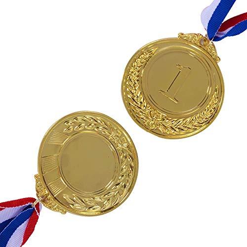 LANGING 3 Stücke Preis Medaillen Gold Silber Bronze Gewinner Medaille Rang (Gold Medaille Kostüm)