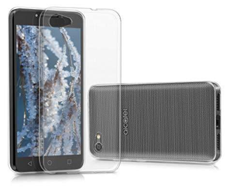 todo phone store pack x2 [1 vetro standard + 1 custodia cover 100% trasparente] - 1 proteggi schermo antiurto vetro temperato 9h + 1 custodia cover silicone gel tpu liscia per alcatel a5 led 4g 5.2