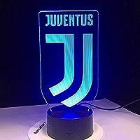 مصباح مضيء شعار نادي يوفنتوس كرستيانو رونالدو - Juventus Cristiano Ronaldo Led light 7 Colors