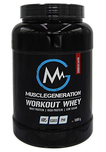 Musclegeneration   Workout Whey   1000g (Erdbeer-Sahne)