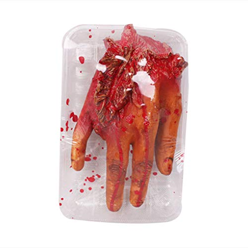 Bobury Halloween di sangue dito mano tritato Brain Heart Lunch Box Trick or Treat partito Prop Decoration
