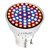 Torpe 60 LED Full Spectrum AC85~265V B22 LED Plant Grow Light Lamp, Growth