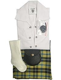 Cornish National Tartán bebé ajustable Kilt traje, camisa, Kilt manguera y Sporran 0–24meses