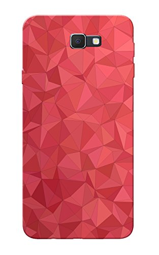 Galaxy J7 Prime Case, Red Crystal Print Slim Fit Hard Case Cover/Back Cover for Samsung Galaxy J7 Prime  available at amazon for Rs.99