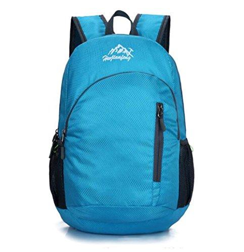 SZH&BEIB Faltbare Rucksack Polyester Ultra Light für Outdoor Reit Tasche Klettern Wandern Wasser-Beutel C