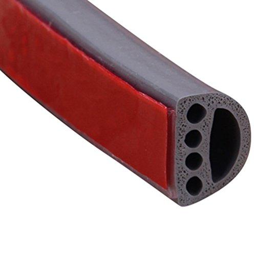 Lvguang Bande de Joint D-Profil Auto-Adhésif Anticollision Imperméable Joint de Porte en Mousse d'étanchéité en Caoutchouc pour Fenêtre Porte (Gris,9 * 6000mm)
