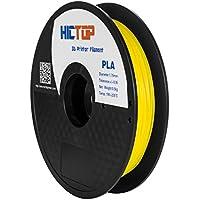 HICTOP 1.75mm Universal 3D Printing PLA 3D-Drucker Glühfaden - 0,5kg Spool (1,1 lbs) - Dimensional Genauigkeit +/- 0,05 mm (gelb)