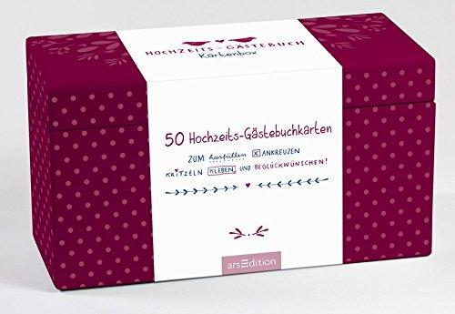 Hochzeits-Gästebuch-Kartenbox: 50 Hochzeits-Gästebuchkarten