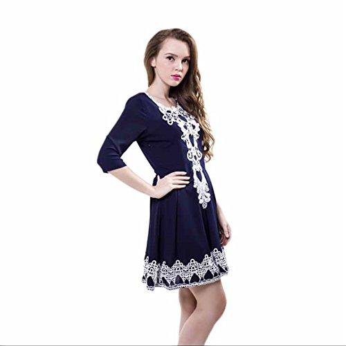 JOTHIN - Robe - Femme blanc Weiß taille unique Bleu