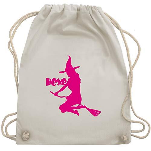Halloween - Hexe auf dem Besen - Unisize - Naturweiß - WM110 - Turnbeutel & Gym Bag