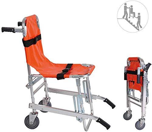 AA-SS JXSD EMS Silla de Escalera Ligera de aleación de Aluminio - Ambulancia Medical Lift con Hebillas de liberación rápida...