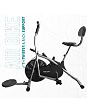 Reach Exercise Fitness Gym Bike with Moving/Stationary Handle Adjustment | Cushioned Back Support Seat & Twister | Best Exercise Cycle for Home Use …