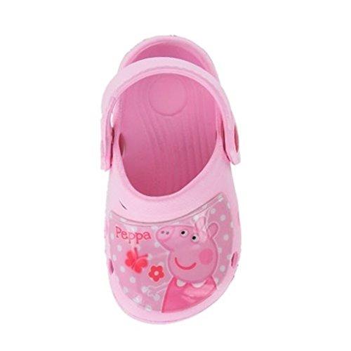Peppa Pig Wonder Eva Girls Clogs/Crocs Sandals - Pink (Sizes 5,6,7,8,9,10) (UK 7 Infant)