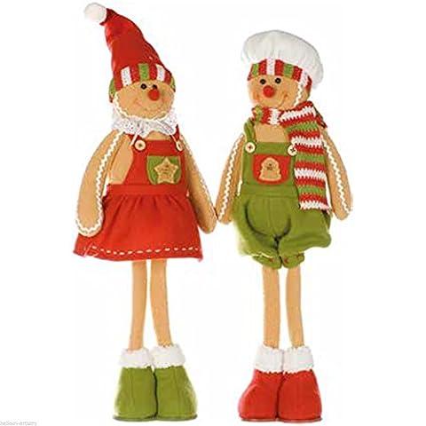 56CM Cozy fille ou garçon Personnage Pain d'épice de Noël debout Figurine Décoration