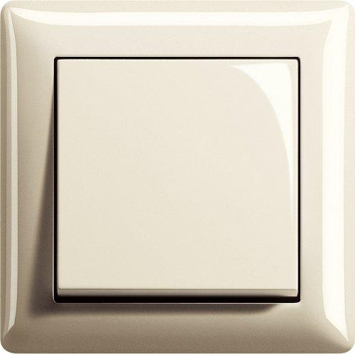 Komplett-Set, Wechselschalter, Gira, Serie Standard 55 - Cremeweiß, glänzend (1x)