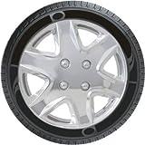 Oshotto Premium OSHO-WC49C 14-inch Black Chrome Finish Universal Fitting-Push Type Car Wheel Cover (Set of 4)