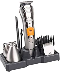 Kemei VKS522 High Precession 7 In 1 Grooming Kit Trimmer (Silver)