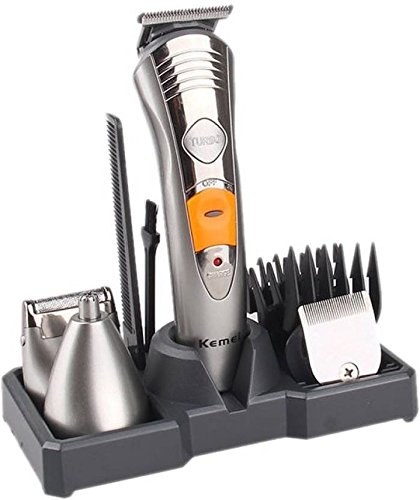 Kemei High Precesion 7 in 1 Grooming Kit - VKS522 (Silver)
