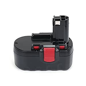 REEXBON Bosch Batterie 18V 3.0Ah Ni-MH Remplacement Batterie pour Bosch PSB 18 VE-2 GSB 18 VE-2 GSR 18 VE-2 PSR 18 VE-2 BAT025 BAT160 BAT180 2607335278 2607335535 2607335536 2607335680